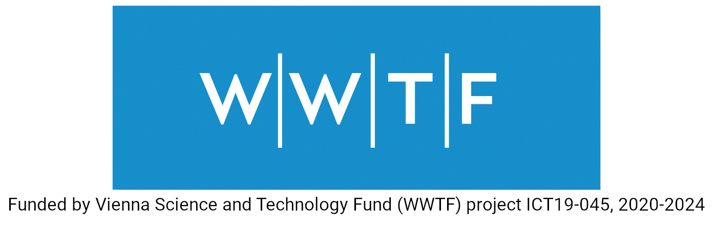 Funded by Vienna Science and Technology Fund (WWTF) project ICT19-045, 2020-2024